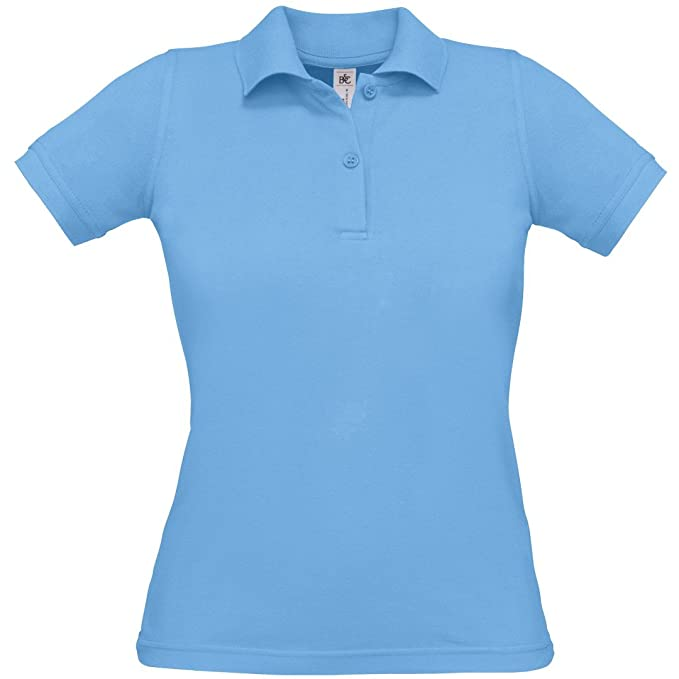 Image Unavailable. Image not available for. Color  B C Collection Womens  Ba370 Safran Pure Polo Shirt Sky Blue 2Xl 7c116ed641
