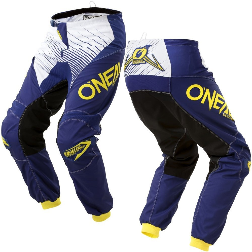O'Neal Unisex-Adult Element Race wear Pant Blue/Yellow Size 30
