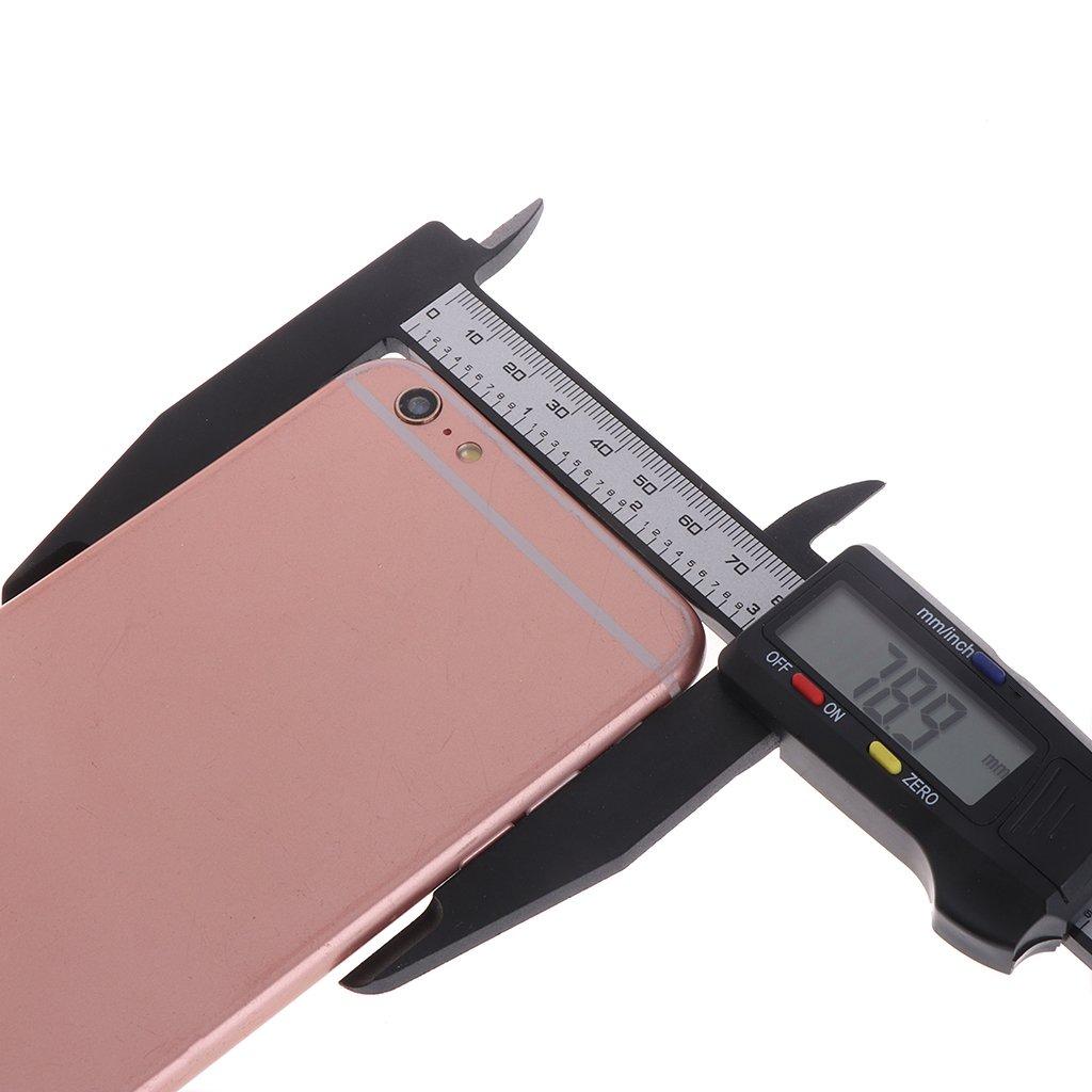 ZChun 200MM fibra de carbono Calibrador digital para LCD de 8 pulgadas