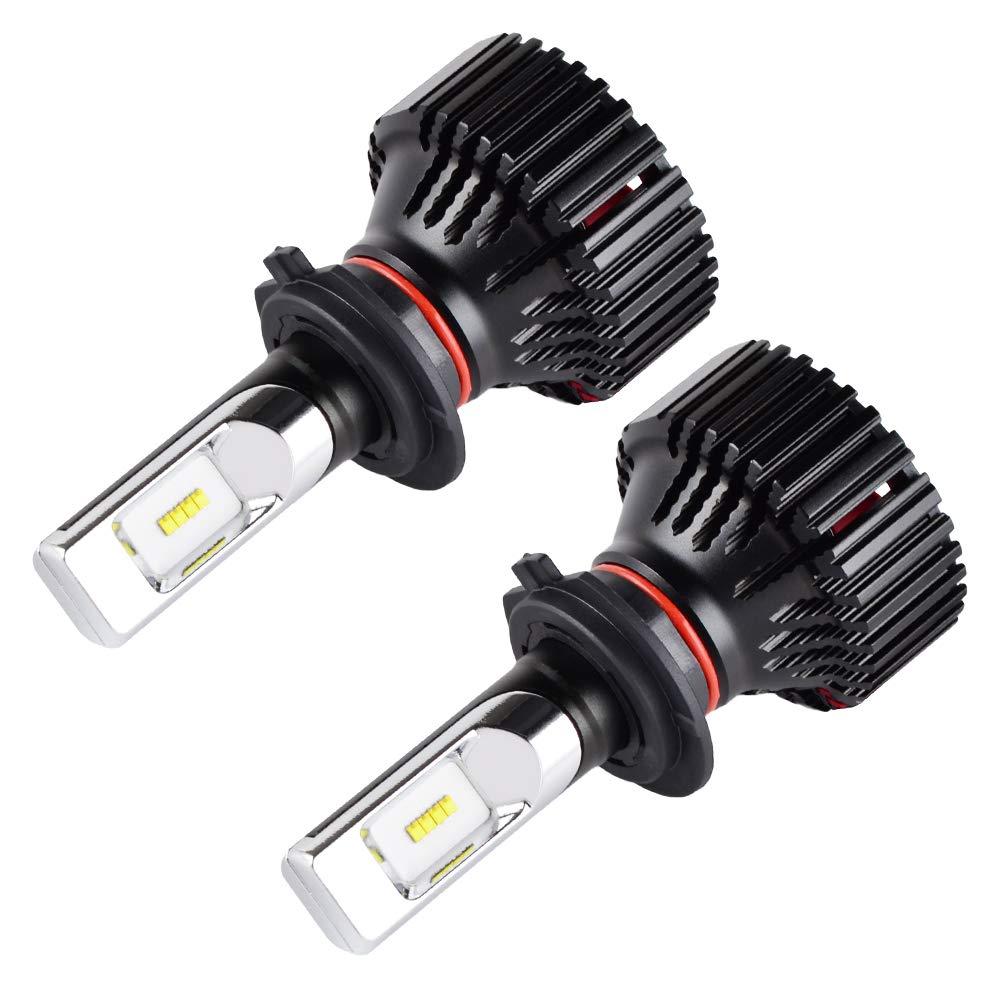 H2Racing H13 Coche LED Faros Bombillas Kit de Conversi/ón Todo en uno 16000LM//Pair 6500K 9008 LED L/ámparas Reemplazar Halogen HID Xenon