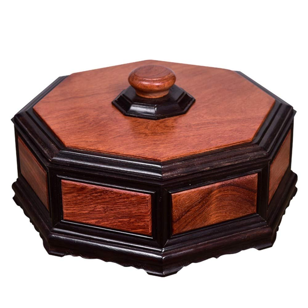 Amazon com ailiujunbing ebony inlaid burmese rosewood chinese style fruit bowl living room classical dried fruit box with cover home wood carving box