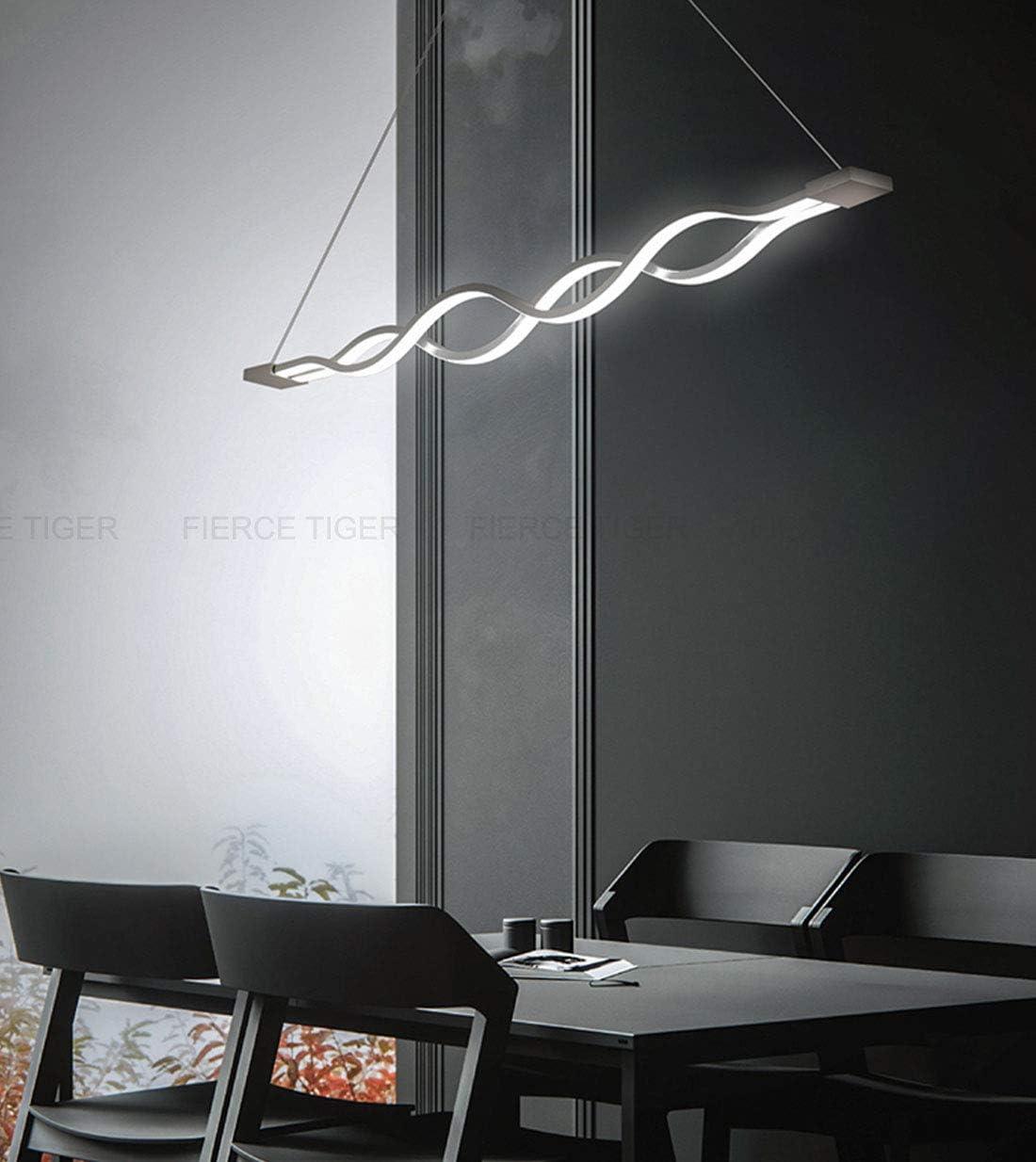 10 Welle Pendelleuchte Dimmbar LED Esstisch Esszimmerlampe Moderne