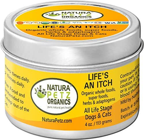 Natura Petz Organics LIFE2ADOGPOWDER Life's an Itch Allergy Flavored Meal Topper for All Life Stage Dogs