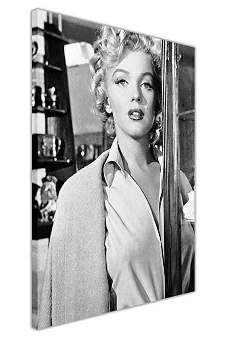 Canvas it up black and white marilyn monroe movie set photo shoot framed prints canvas wall