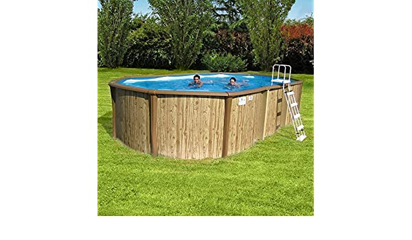 New Plast - Piscina elevada Antigua 950 Kit - Medidas 915 x 460 x ...