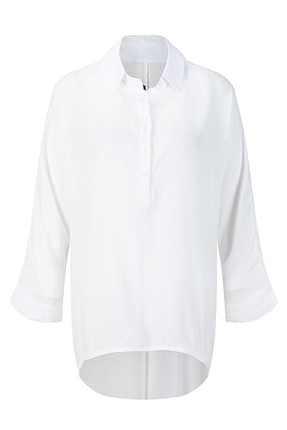 Beauty7 ES 36 Blusa Mujer Dobladillo Irregular Camisa Larga Mangas Larga Camisetas Tops T Shirt Parte