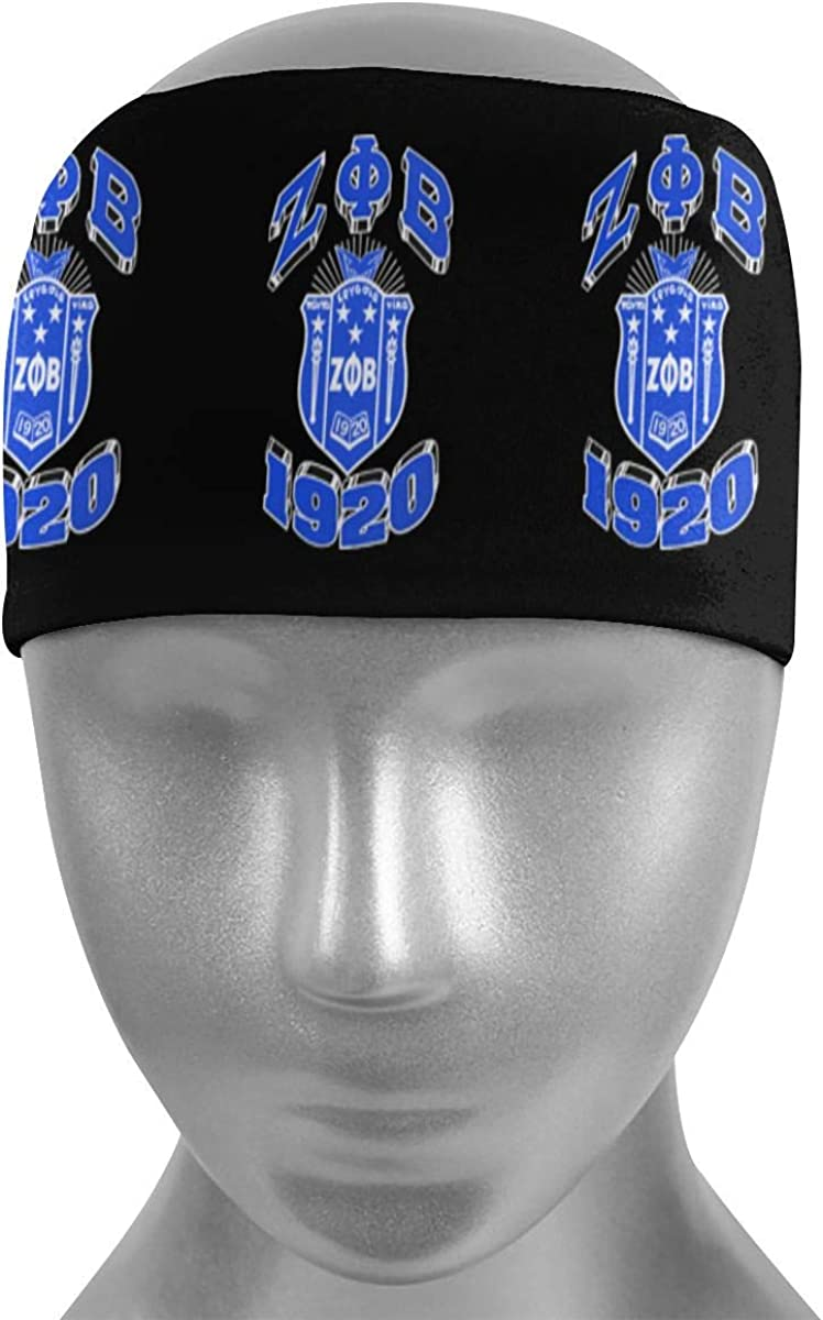 Juhucc Zeta Phi Beta Sweat Headband Sports Wristband and Sports Sweatbands Moisture Wicking Workout Sweatbands for Men Women