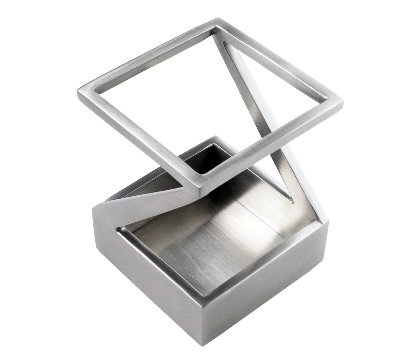 ArtsOnDesk Modern Art Pen and Pencil Holder St203 Stainless Steel Satin Finish Patented - High-end Deck Accessory Desktop Pen Case Cup Tray Stand Office Organizer Christmas Valentines Gift by ArtsOnDesk