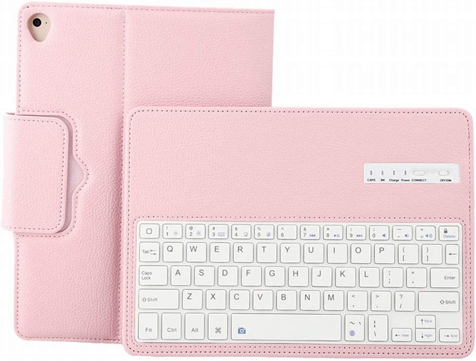 XIAMEND Bluetooth Keyboard with Case for 2018iPad//2017iPad//Pro9.7//Air2//Air Color : Pink