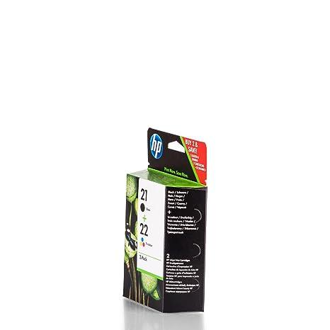 Original de tinta para HP Deskjet D 1430 HP Nr 21 & NR 22 ...