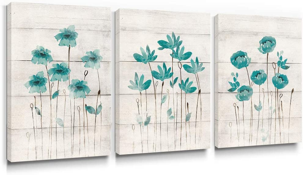 Blue Gray Trees Flowers Home Decor Art Photo Print Bedroom Bathroom Picture