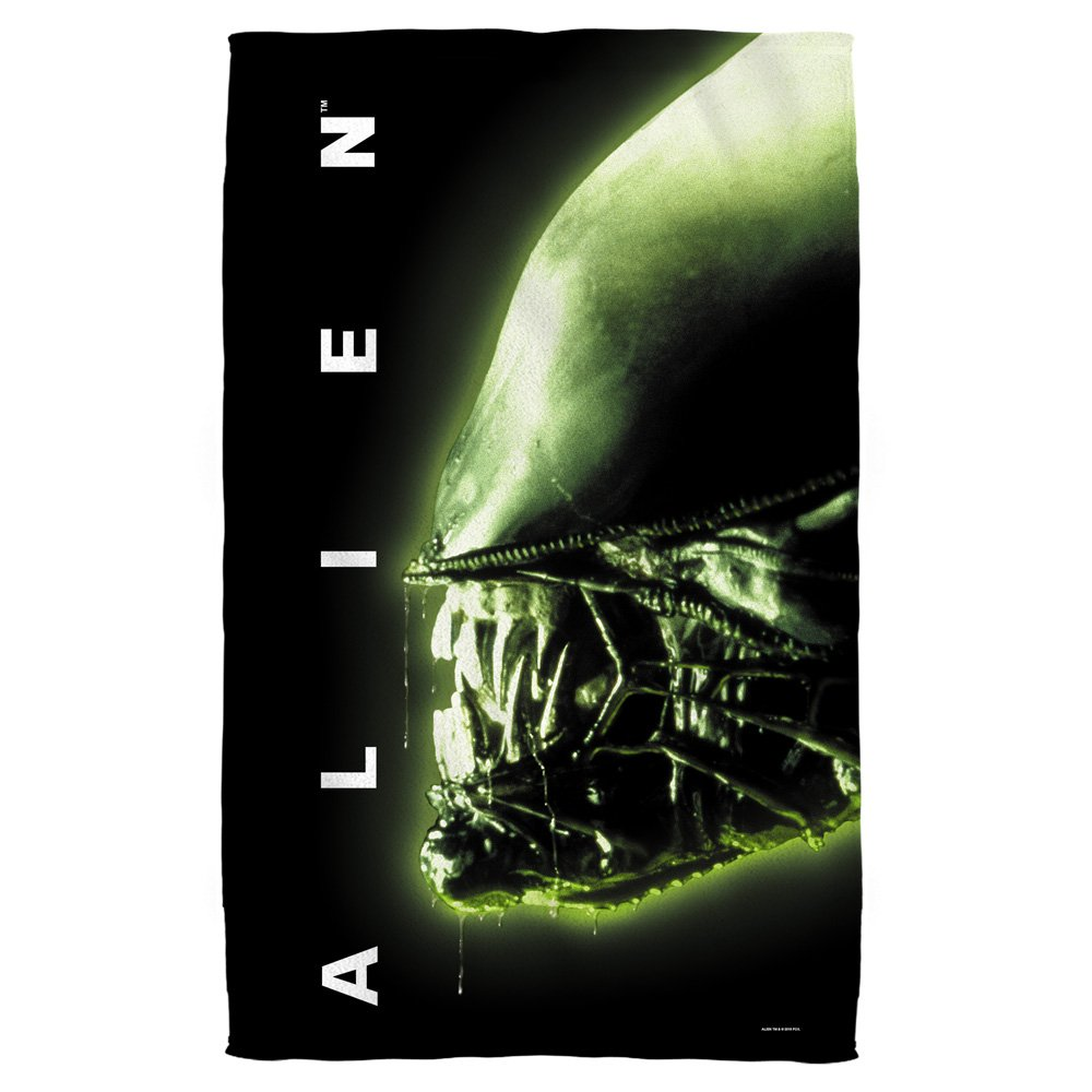 ALIEN Xenomorph Head 1979 Horror Movie 36 X 58 Beach Towel