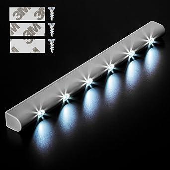 TecTake 6 LED Lichtleiste Bewegungsmelder Schranklicht ...