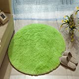 WAN SAN QIAN- Living Room Round Carpet Modern Simple Bedroom Carpet Home Economy Rug Solid Color Rug Sofa Carpet Rug ( Color : A , Size : 200x200cm )
