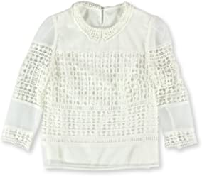 cbd98aff8b6c Goodnight Macaroon Womens Peter Pan Crochet Pullover Blouse