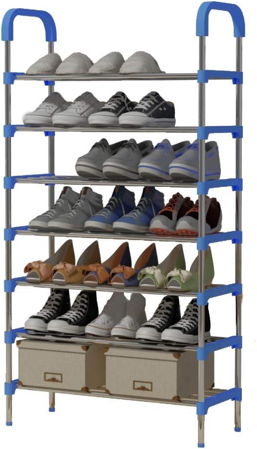 YAYI Shoe Rack 6-Tier Metal Shoe Storage Organiser Hode up to 18-21 Pairs Shoes,Blue