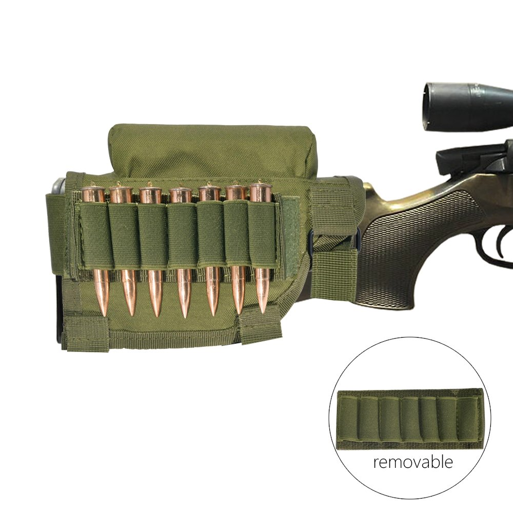 Survivor Tactical Buttstock Cheek Rest with Ammo Holder for Hunting Outdoor Sport