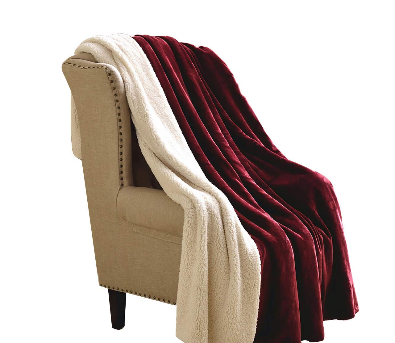フェイクファー毛布フェイクファー、二重厚く暖かいウール毛布冬毛布コーラルブランケットキルトシングルダブル毛布(色:A、サイズ:200× 230 cm) B07QQR1HM7