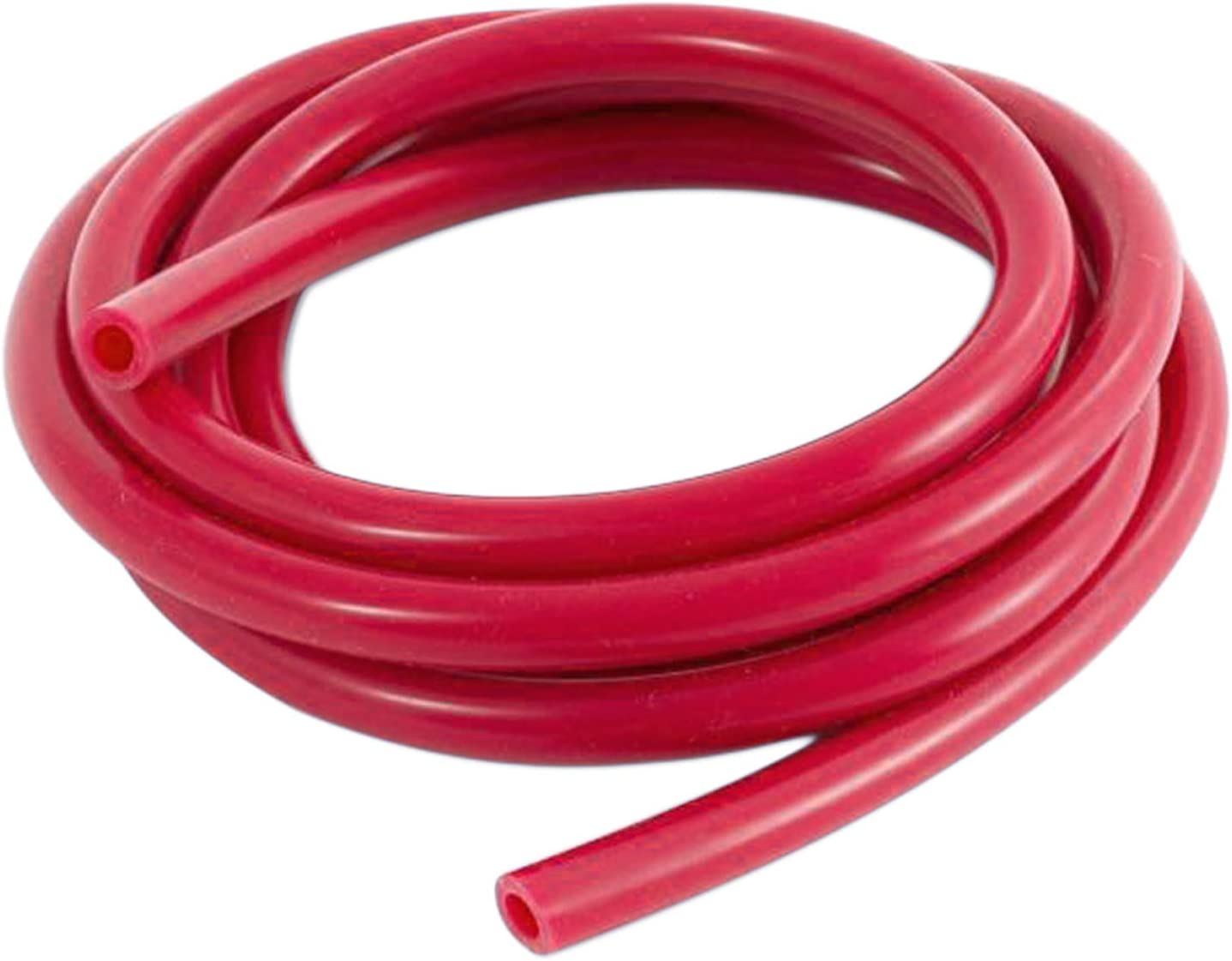 Ronteix Universal High Performance Vaccum Silicone Hose Tubing Line 5 Feet Length(2MM(1/12 Inch), Red)