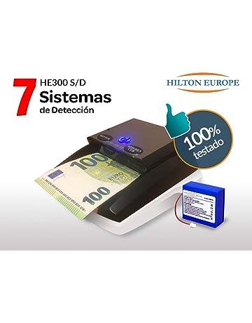 HILTON EUROPE HE-300 SD DETECTOR DE BILLETES FALSOS CON BATERIA - ACTUALIZADO AL NUEVO