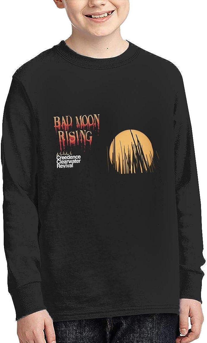 RhteGui Creedence Clearwater Revival Boys /& Girls Junior Vintage Long Sleeve T-Shirt Black