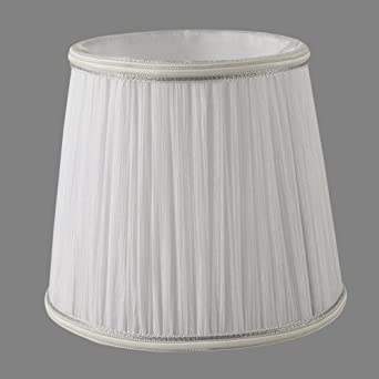 Onepre white silk clip on candle lampshade drum decorative trim onepre white silk clip on candle lampshade drum decorative trim chandelier lamp shades small aloadofball Image collections