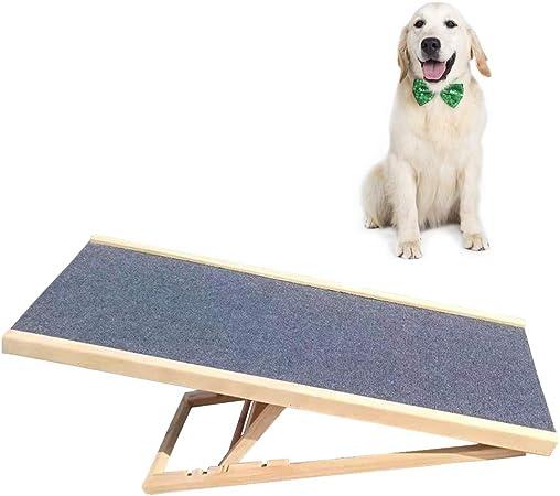 ZXL Rampas Portátiles de Seguridad para Perros Plegables, Rampa/Escalera de Madera para Mascotas para Perros Pequeños, Medianos y Grandes, Escaleras Antideslizantes para Perros: Amazon.es: Hogar