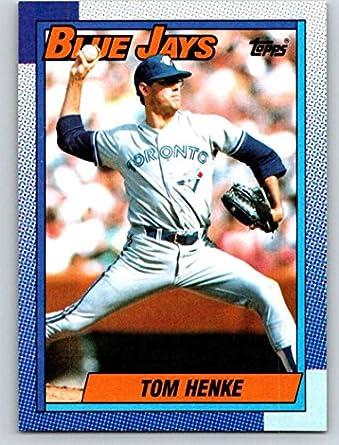 0bb65319f 1990 Topps Baseball  695 Tom Henke Toronto Blue Jays Official MLB Trading  Card (stock