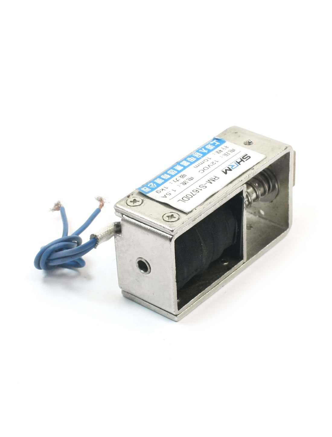 Amazon.com : Marco de la puerta de bloqueo eléctrico abierto electroimán del solenoide 1 kg / 10 mm 12V CC : Baby