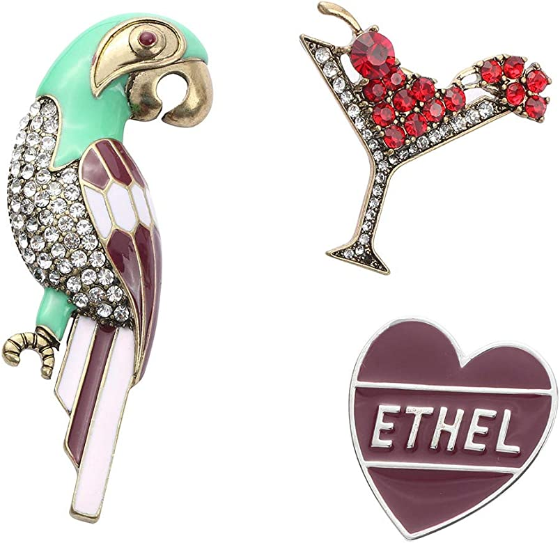 Jhion Brooch Pin Set Cute Brooches Patches for Clothes//Bags//Backpacks//Jackets
