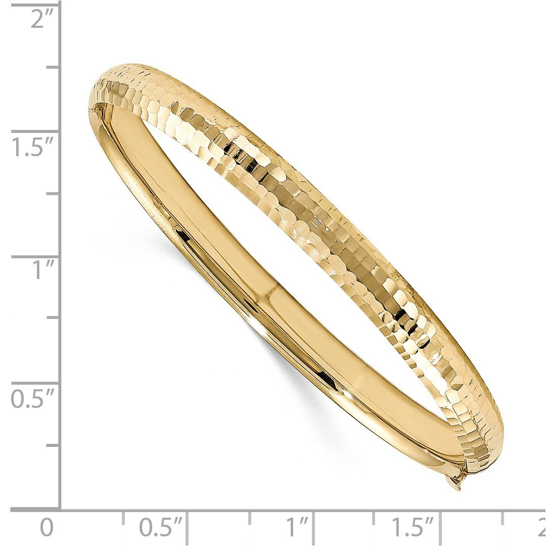 ICE CARATS 14k Yellow Gold Kids 5mm Hinged Baby Bangle Bracelet Cuff Expandable Stackable Fine Jewelry Gift For Women Heart by ICE CARATS (Image #2)