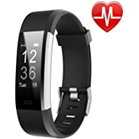 LETSCOM Fitness Tracker HR, Activity Tracker Watch Heart Rate Monitor, Waterproof Smart Fitness Band Step Counter, Calorie Counter, Pedometer Watch Kids Women Men, Android iOS