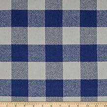 Amazon.com: plaid fabric blue