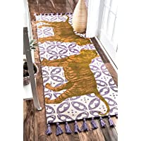 nuLOOM Thomas Paul Flatweave Cotton Tiger Rug, 2 8 x 8, Multicolor