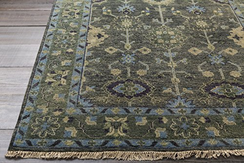 Surya ATQ-1008 Hand Knotted Classic Accent Rug, 3-Feet 6-Inch by 5-Feet 6-Inch