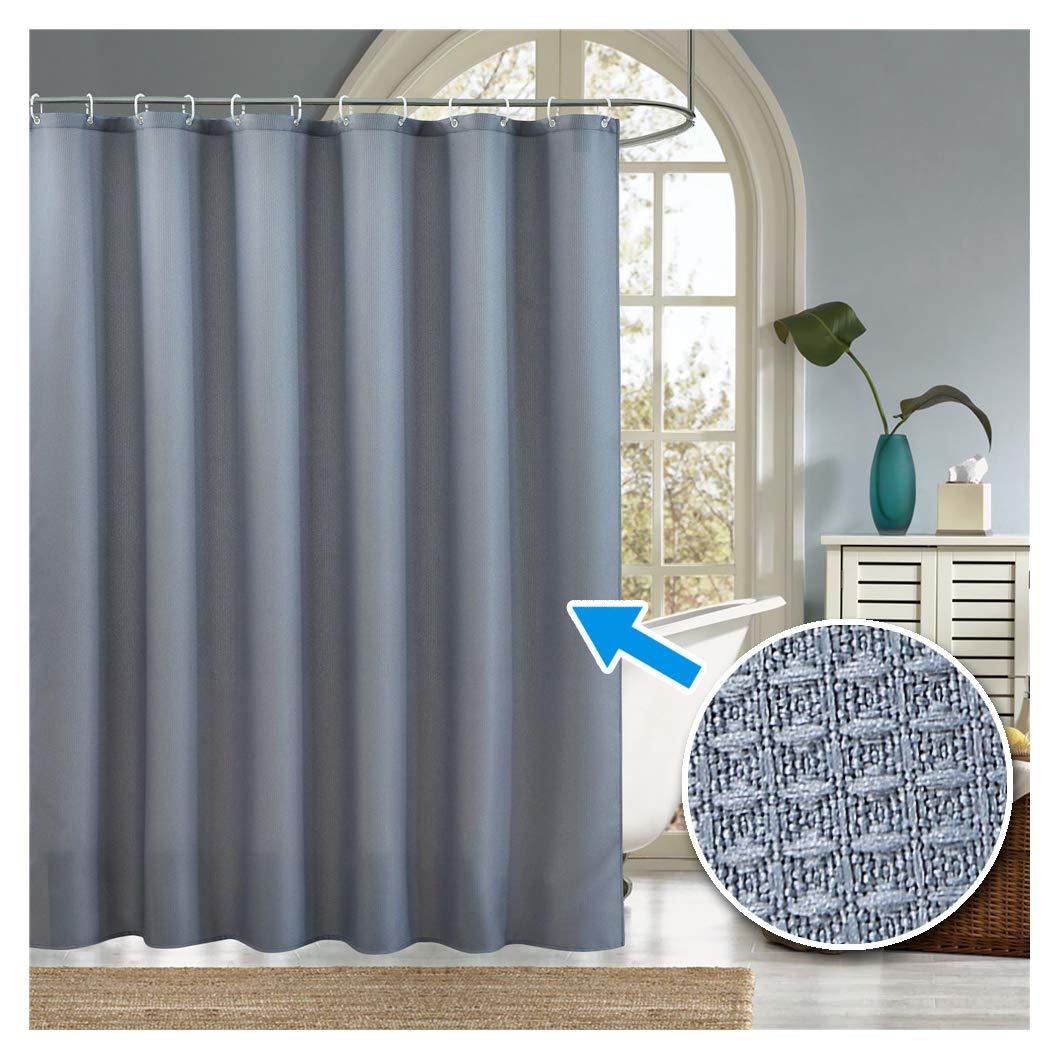 LanMeng Leaves Fabric Shower Curtain Skeleton Leaf Veins White Pink Purple Blue 72