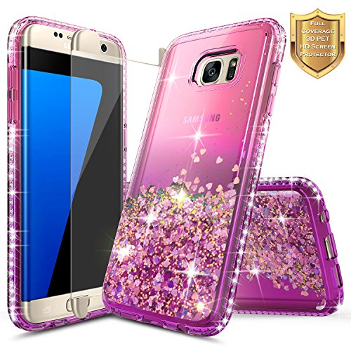 Cheap Cases Galaxy S7 Edge Case with FREE [Full Coverage 3D PET HD Screen..