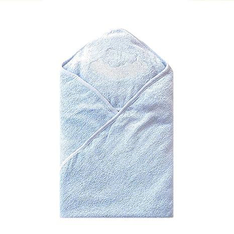 WYQ Toallas de baño para bebés Azules, Toallas de algodón Suave con Capucha para niños