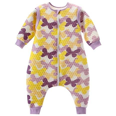 Vine Bebé Saco de dormir Con los pies Mangas desmontables Púrpura M