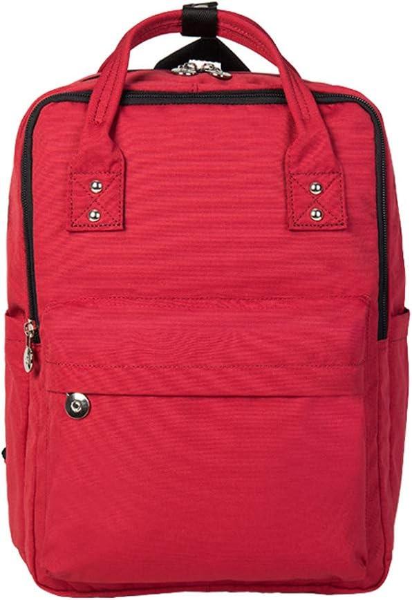 CJH Backpack Female Leisure Travel Backpack Big High School Student Bag Primary School Junior High School Student Bag Red