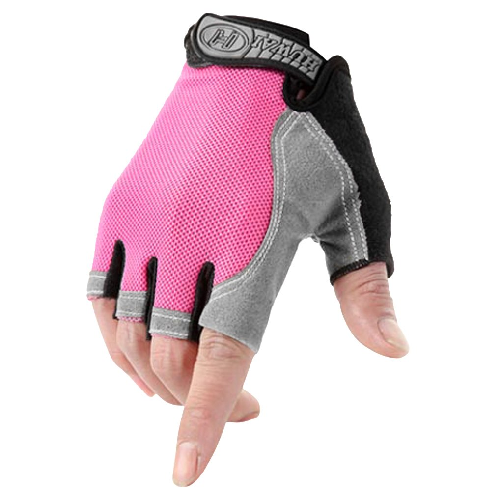 Unisex Fingerless Cycling Gloves Racing Mitten Adults Half Finger Sport Gym Fitness Gloves Hand Wear Women Men Breathable Non-slip Silicone Outdoor Gloves for Mountain Road Bike Riding Bicycle Rowing
