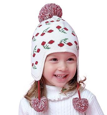 7d751a1ead6 Connectyle Toddler Infant Baby Knit Kids Hat Cotton Earflap Beanie Hat Warm  Winter Beanies Skull Cap