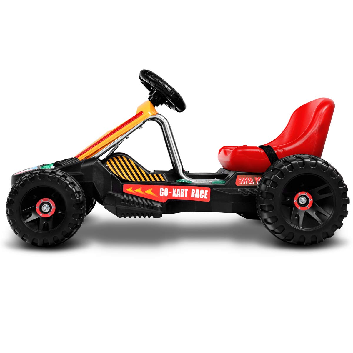 Amazon.com: Costzon Electric Go Carts for Kids, 6V Battery Powered Children Racer 4 Wheel Outdoor Toy Car with Music LED Flash Light Forward Backward ...