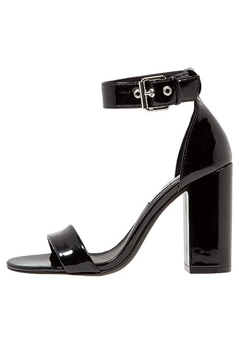 cf1beb6d26c1 Even ODD Womens Block Heel Sandals - Open Toe Ankle Strap Sandals in Black