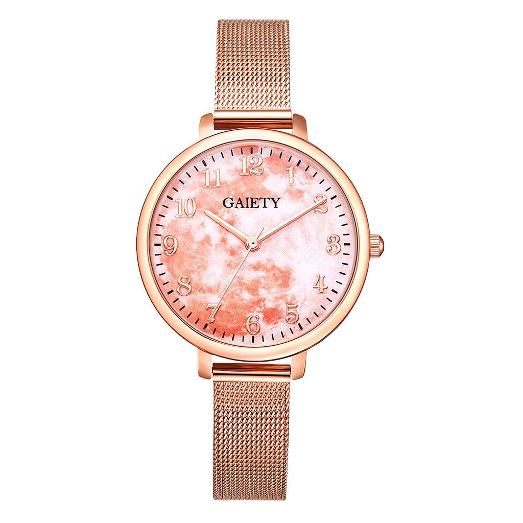 Amazon.com: Reloj de DAMA WoCoo Fashion Dress Analog Quartz Wrist Watch with Stainless Steel Mesh Strap Watches Gifts (E): Kitchen & Dining