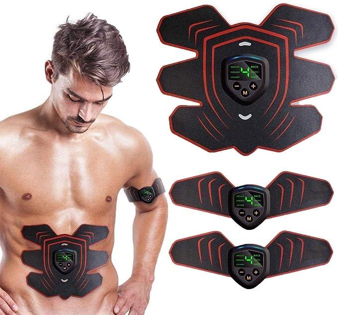 EMS Abdominal Muscle Toning Trainer ABS Stimulator Toner Fitness Gym Belt 6 Pads for sale online