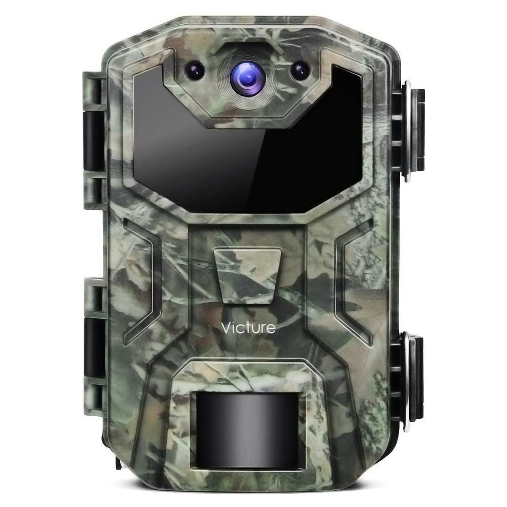 Victure Trail Game Camera 16MP 1080P Full HD with Waterproof Clamshell Design No Glow Hunting Camera with Night Vision Motion Activated for Wildlife Watching by Victure