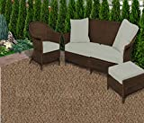 Koeckritz Rugs 3'x5' Rustic Copper Gardenscape Indoor/Outdoor Area Rug Carpet, Runners With Many Sizes and FINISHED EDGES.