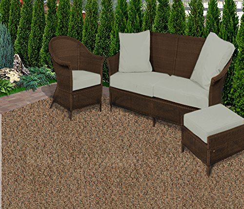 Koeckritz Rugs Oval 9'x12' Rustic Copper Gardenscape Indoor/Outdoor Area Rug Carpet, Runners With Many Sizes and FINISHED EDGES. ()