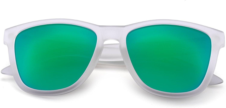 JIM HALO Retro Polarizadas Gafas de Sol Para Mujer Hombre Vintage Cuadradas Espejo Anteojos